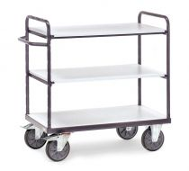 Fetra ESD shelved trolley - Various sizes, three shelves