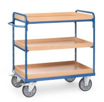 fetra shelved trolley with three boxes