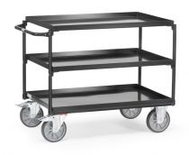 Fetra table top cart with trays grey edition