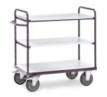 Fetra ESD shelved trolley - Various sizes, three shelves