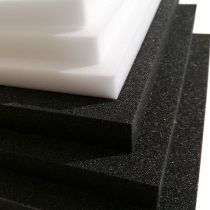 Plastazote LD24 black and with foam board also known as museum art foam of maf